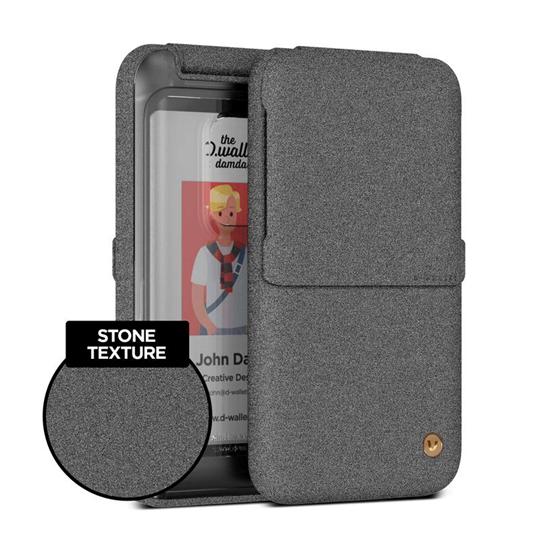 Picture of VRS Design Damda Wallet Luxury Folder (Sand Stone) Clear Back